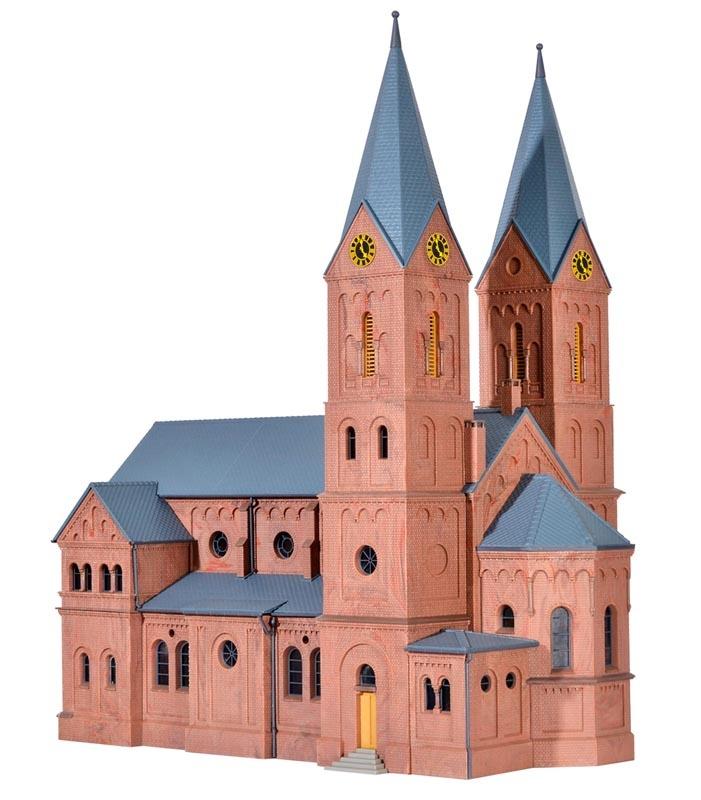 Romanische Stadtkirche in Jakobwüllesheim, Bausatz, Spur H0