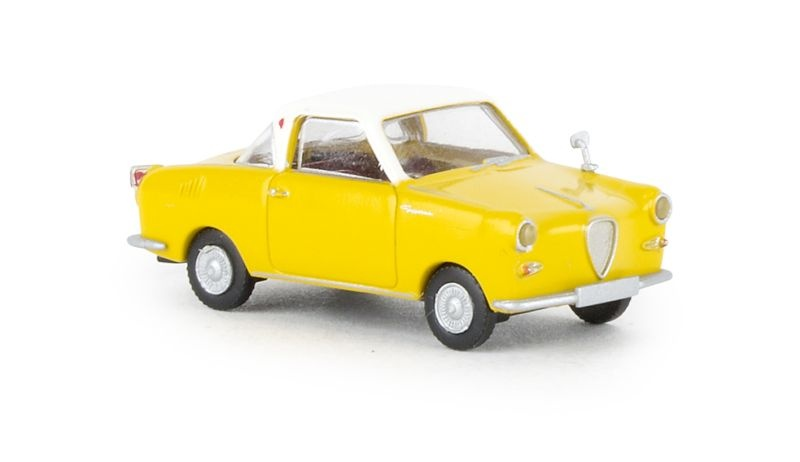 Goggomobil Coupe gelb, weiss, TD, 1:87 / Spur H0