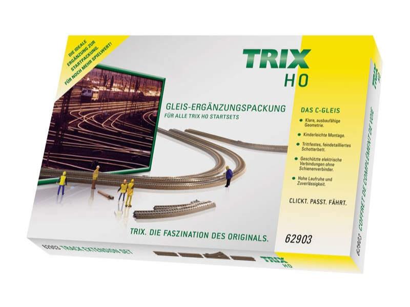 Gleis-Ergänzungspackung C3 Trix H0 C-Gleis