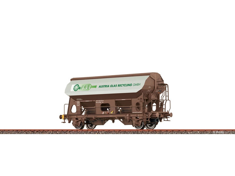 Güterwagen Tds ÖBB, VI, Austria Glas, DC, Spur H0