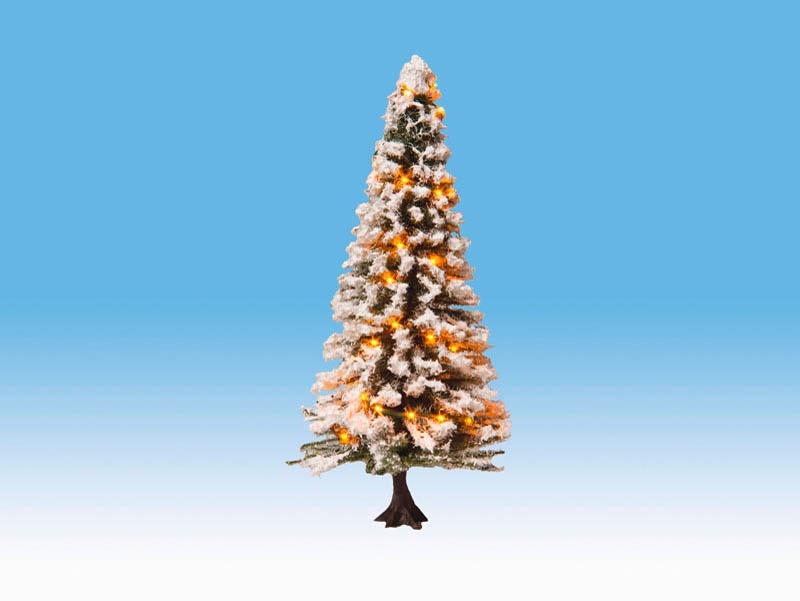 Beleuchteter Weihnachtsbaum mit 30 LEDs, verschneit, 12 cm