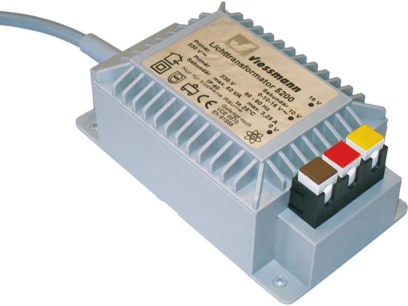 Lichttransformator 16 V, 52 VA, passend für alle Spurgrößen