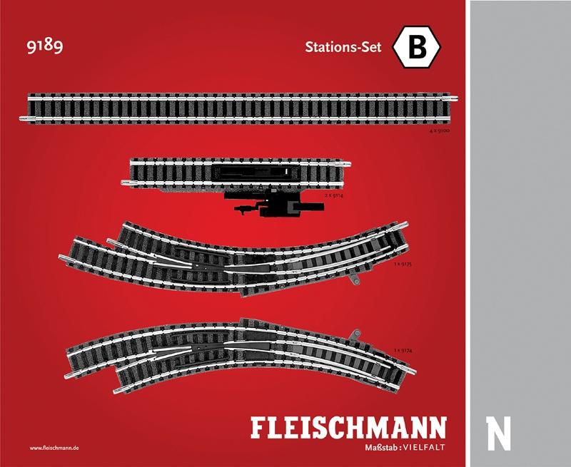 Stations-Set B Gleiserweiterung N-Gleis mit Bettung