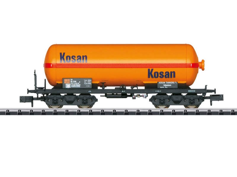 Druckgas-Kesselwagen KOSAN, DSB, Minitrix Spur N