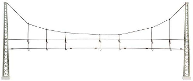 Quertragwerk komplett mit Masten 360 mm Bausatz, Spur H0