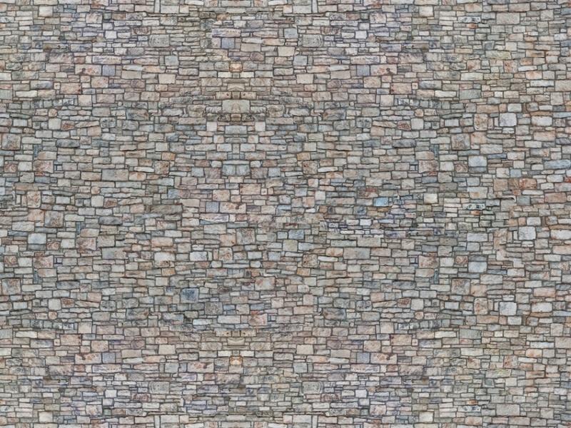 3D-Kartonplatte Bruchsteinmauer, Spur N