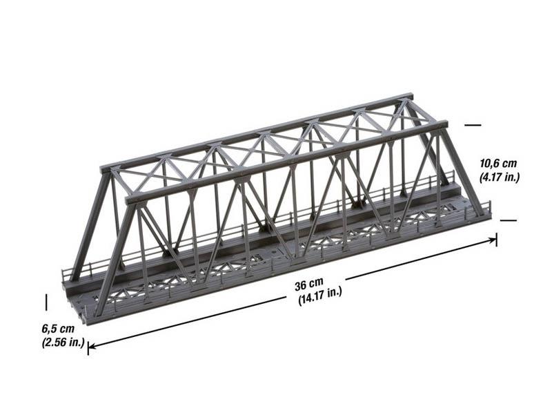 Kasten-Brücke 360 mm Spur H0