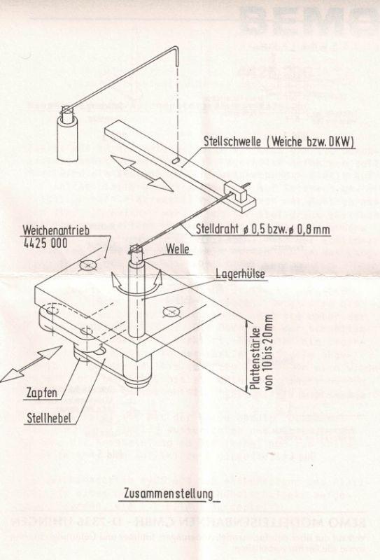 Weichenübertragung 5 Stück/ Packung H0e / H0m
