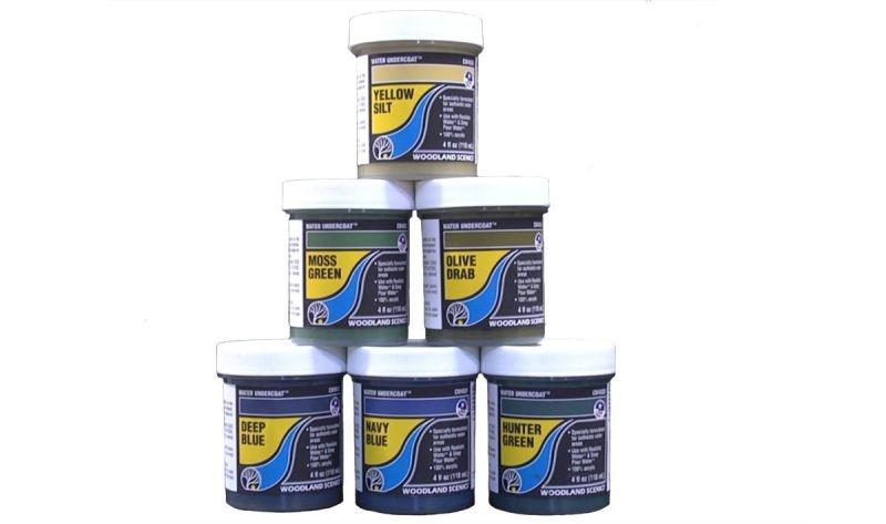 Wassergrundfarbe graubraunoliv, 118 ml