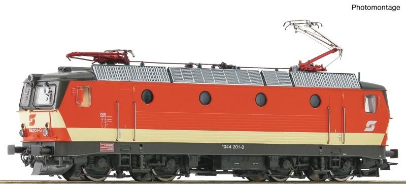 Elektrolokomotive 1044 201-0 der ÖBB, DC, Spur H0