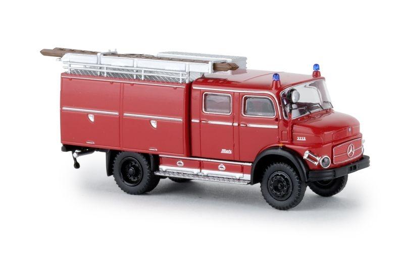 Mercedes LAF 1113 TLF 16 rot, schwarz, Spur H0