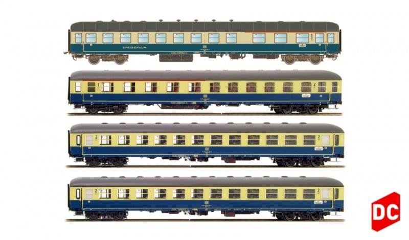 4tlg. Set 2 München-Berlin Arm/Abm/2xBm Ostsee Express DC H0