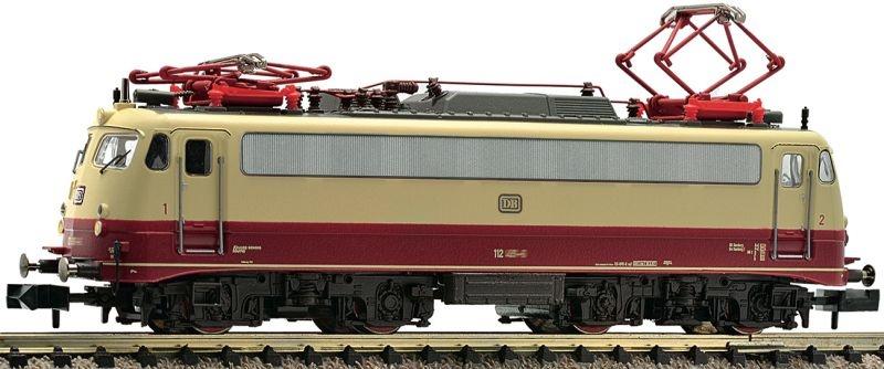Elektrolokomotive BR 112, rot / beige der DB, DC, Spur N
