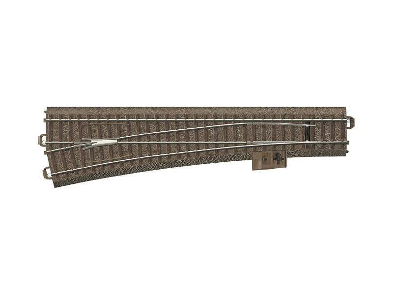 Schlanke Weiche links R=1114,6 mm 12,1° Trix H0 C-Gleis