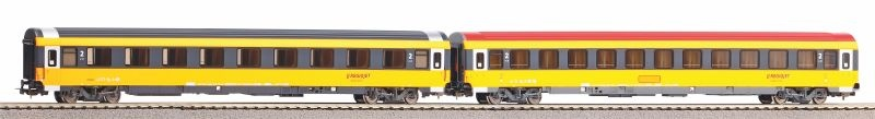 2er Set Personenwagen 1.Kl./ 2.Kl. Regiojet VI, DC, Spur H0