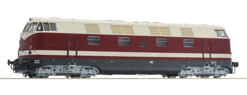 Diesellokomotive 118 552-9 der DR, DC, Spur H0