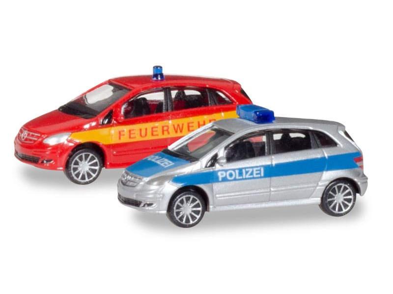 Mercedes-Benz B-Klasse Polizei/Feuerwehr 1:160 / Spur N