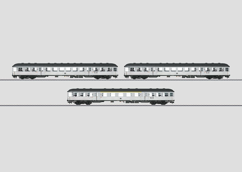 Nahverkehrswagen-Set Silberlinge B4nb-59, AB4nb-59 DB Spur 1