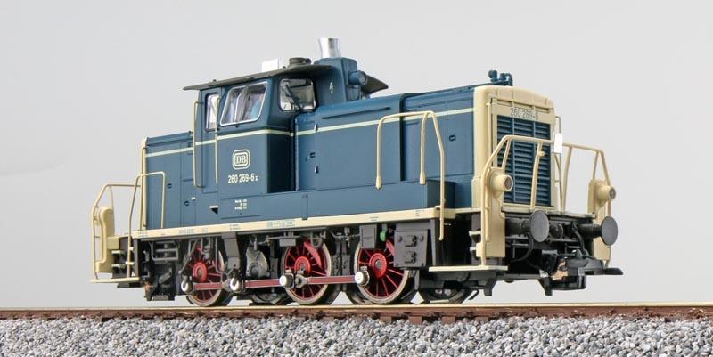 Diesellok BR 260 269,ozeanblau/beige,Ep. IV, E-Kupplung, H0