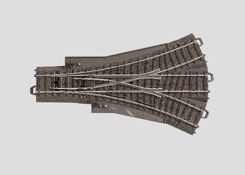 Dreiwegweiche 188,3 mm 2x24,3° Spur H0 C-Gleis