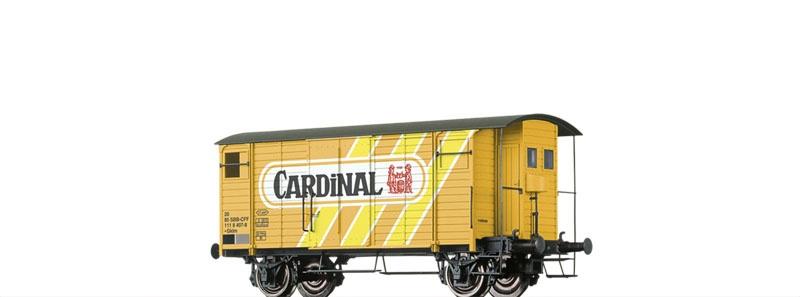 Gedeckter Güterwagen Gklm Cardinal der SBB, DC, Spur H0
