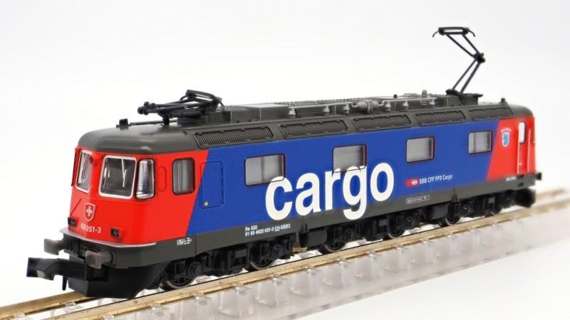 E-Lok Re 620 SBB Cargo, Ep.V-VI, mit Klimaanlage, Spur N