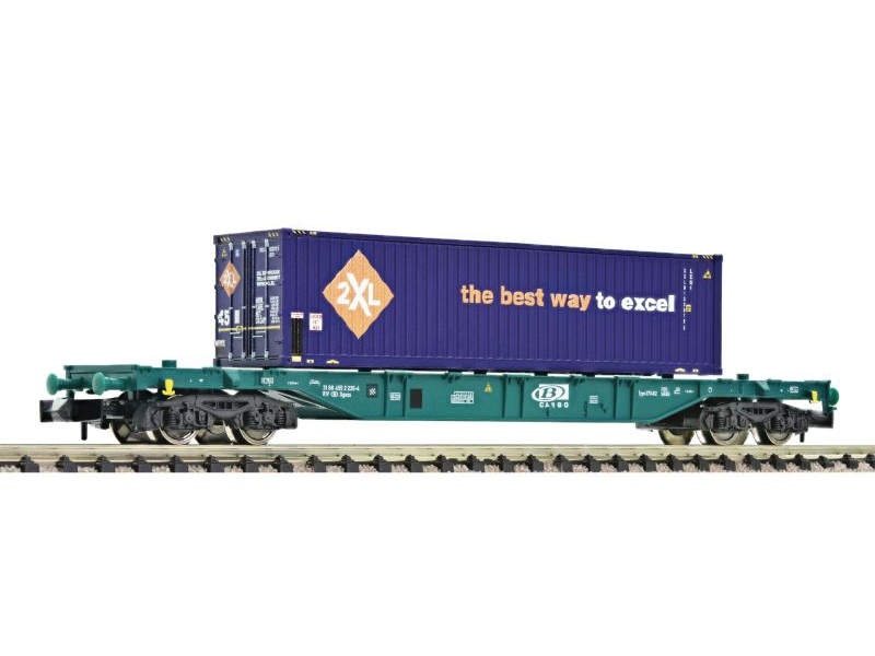 Container-Tragwagen Bauart Sgns der SNCB, DC, Spur N