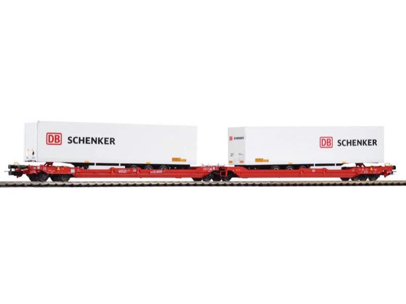 Taschenwagen T3000e mit 2 DB Schenker Trailern, Ep. VI, H0