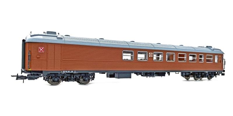 Topline SJ RB1 5189 Restaurant- und Personenwagen, Spur H0