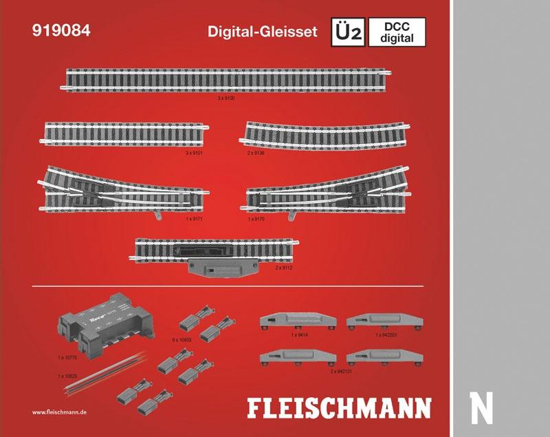 DCC digital, Gleiserweiterungsset Ü2 N-Gleis mit Bettung