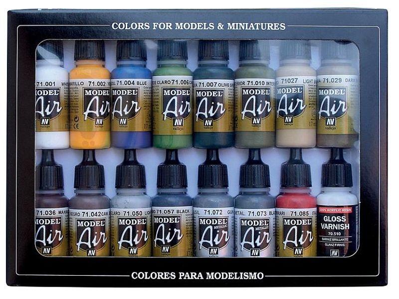 Farb-Set, Gebäudefarben, 16 x 17 ml