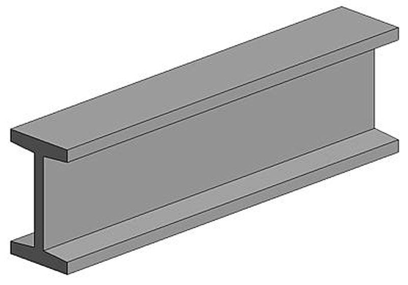I-Profil, 350x4,8X2,4 mm - 3/16, 3 Stück