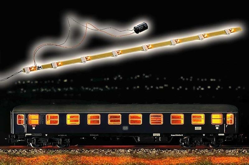 Wageninnenbeleuchtung mit Antiflacker-Elektronik, Spur H0