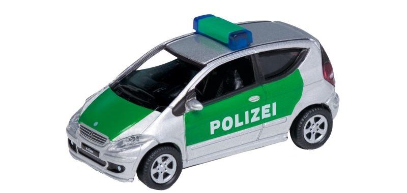 Mercedes-Benz A200 Polizei, Fertigmodell, Spur H0