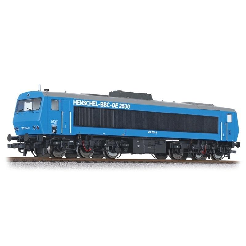 Diesellok DE2500 202 004-8, 6-achsig, DB, blau, Ep.IV, H0