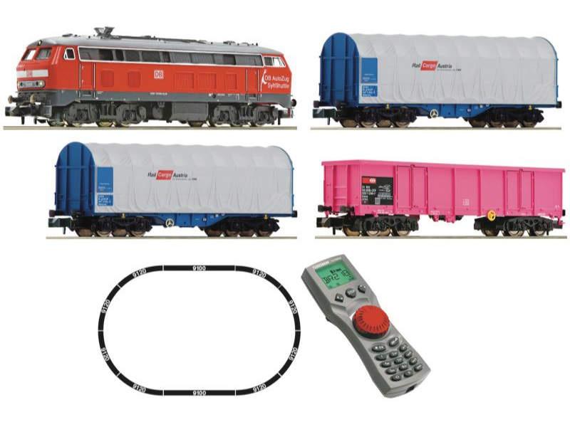 Digitales Startset: Diesellokomotive BR 218 + Güterug Spur N