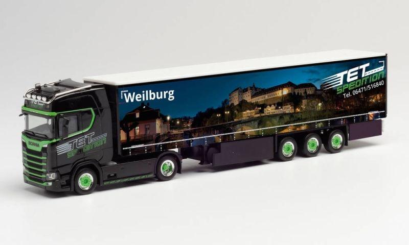 Scania CS 20 HD Gardinenplanen-Sattelzug TET Weilburg 1:87