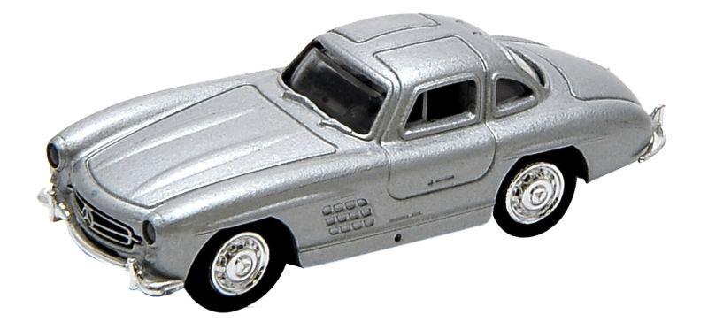 Mercedes-Benz 300 SL, silber, Fertigmodell, Spur H0