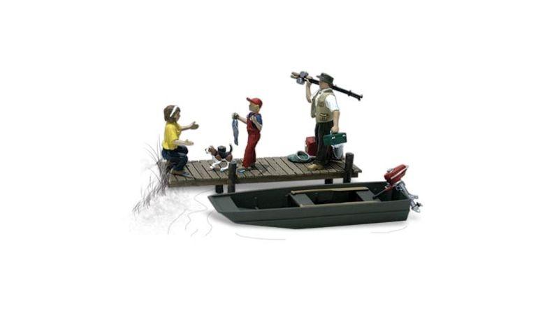 Familie beim angeln, Figuren, Spur H0