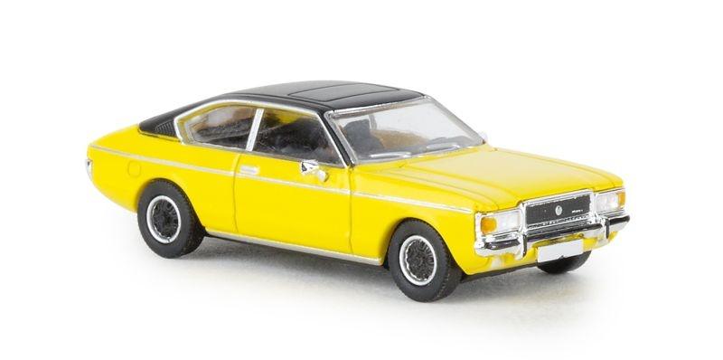 Ford Granada MK I Coupe, gelb/matt-schwarz, 1974, Spur H0