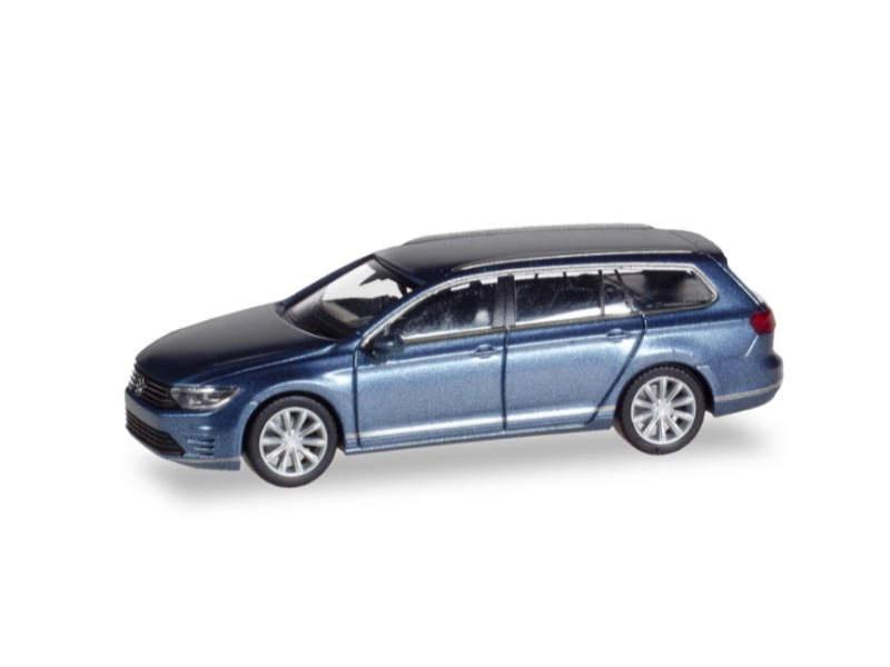 VW Passat Variant GTE E-Hybrid, havardblue metallic, 1:87