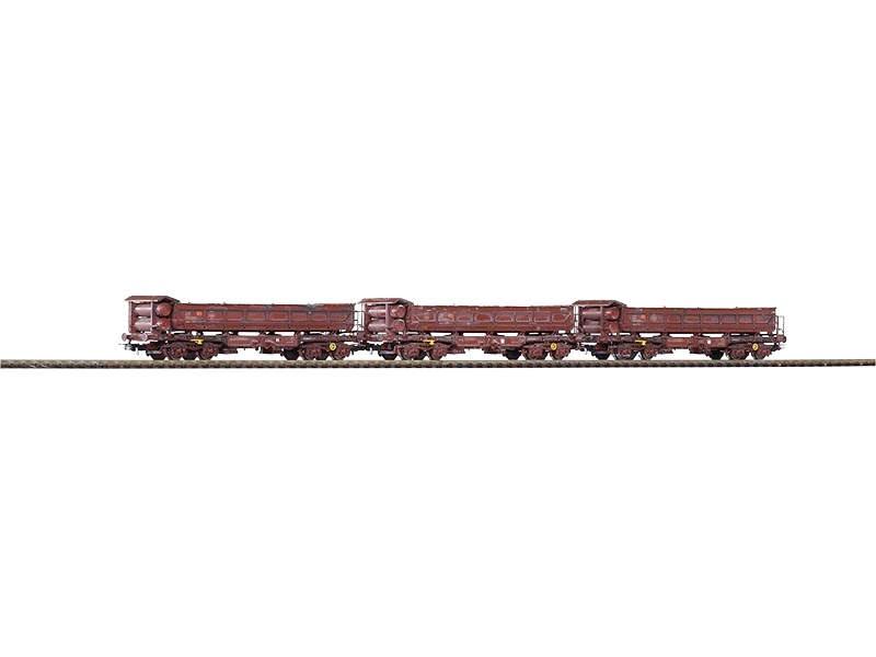 3er Set Zweiseitenkipper Fakks127, realistisch gealtert, H0