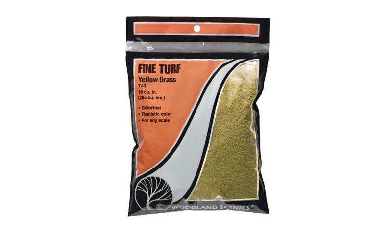 Streumaterial für Gras, gelb, fein, 70 g