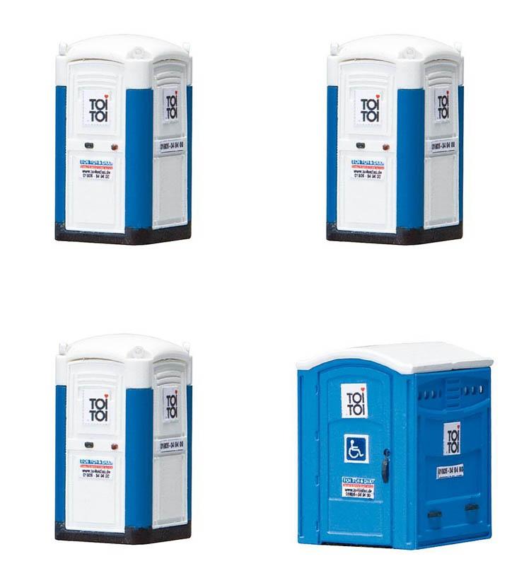 Modell Mobile Toilettenkabinen TOI TOI 1:87, Spur H0