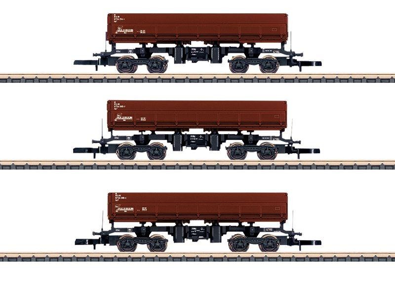 Seitenkippwagen-Set Fas 126 der DB, 3-tlg., Ep.VI, Spur Z
