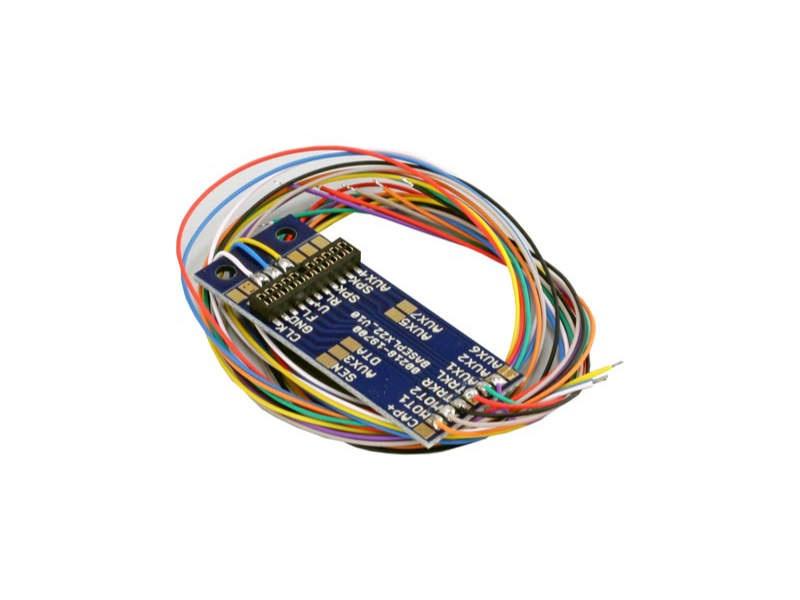 Adapterplatine PluX22 für 9 Ausgänge, Lötkontakten und angel