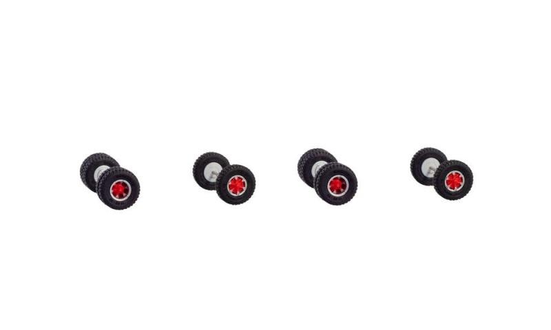 Trilexfelgen mit Geländereifen für 2 Zugmaschinen, 1:87 / H0
