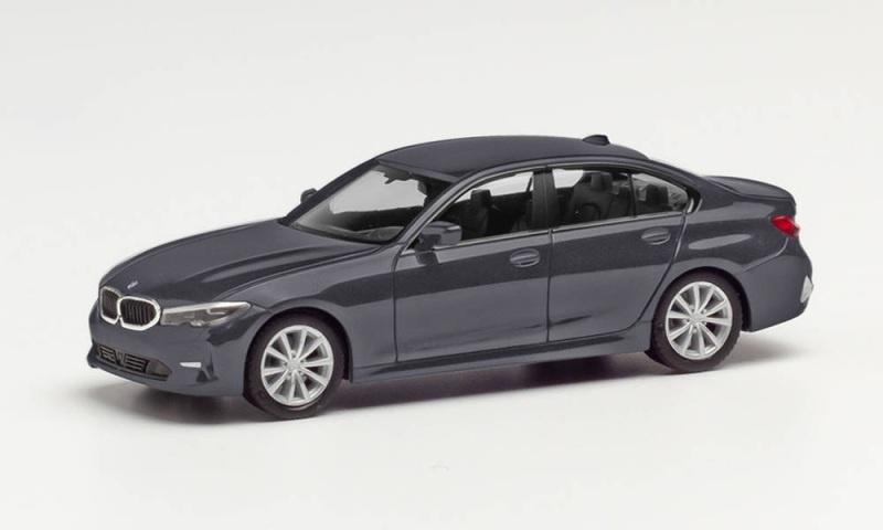 BMW 5er Limousine, Bluestone Metallic, 1:87 / Spur H0