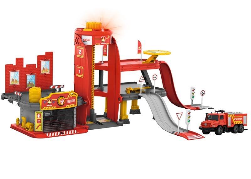 my world Feuerwehr Station mit Licht- und Soundfunktion, H0