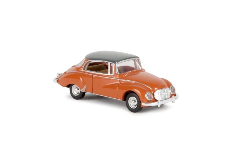 Auto Union 1000 S Coupé, orange/grau, Spur H0